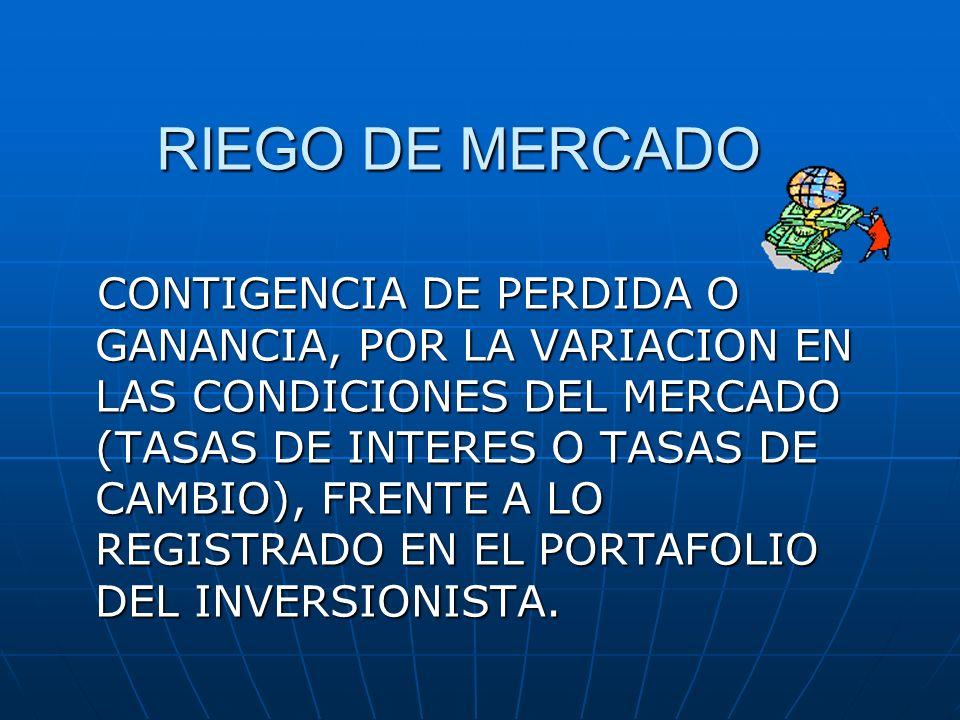 RIEGO DE MERCADO