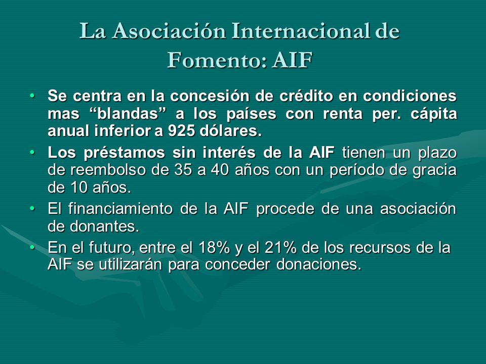 La Asociación Internacional de Fomento: AIF