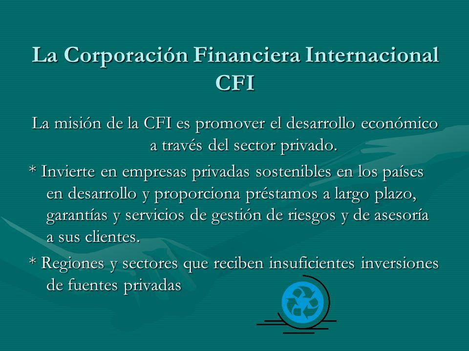 La Corporación Financiera Internacional CFI