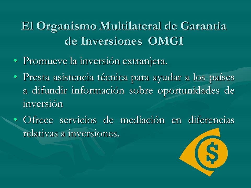 El Organismo Multilateral de Garantía de Inversiones OMGI