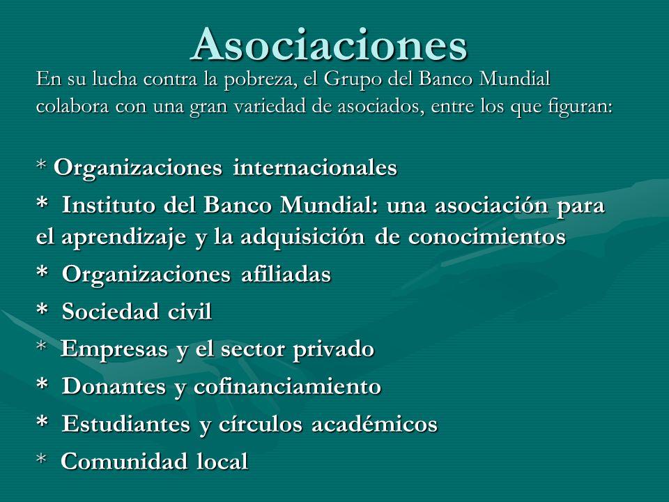 Asociaciones * Organizaciones internacionales