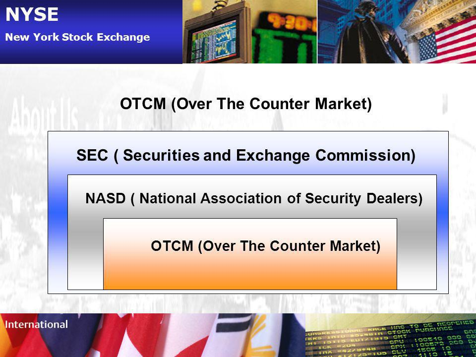 NYSE OTCM (Over The Counter Market)