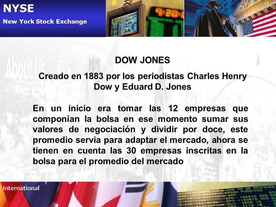 Creado en 1883 por los periodistas Charles Henry Dow y Eduard D. Jones