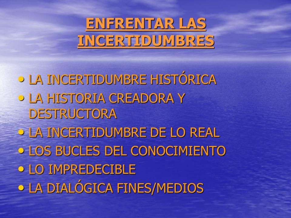 ENFRENTAR LAS INCERTIDUMBRES