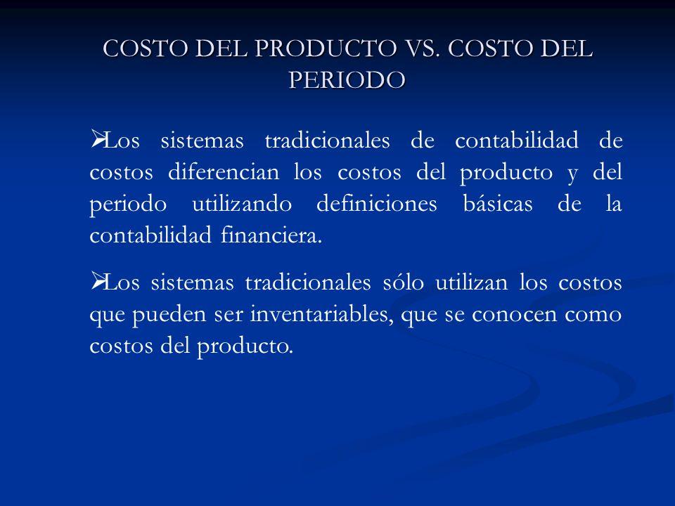 COSTO DEL PRODUCTO VS. COSTO DEL PERIODO