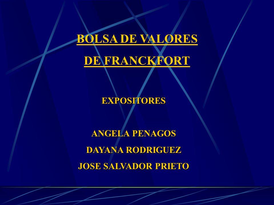 BOLSA DE VALORES DE FRANCKFORT
