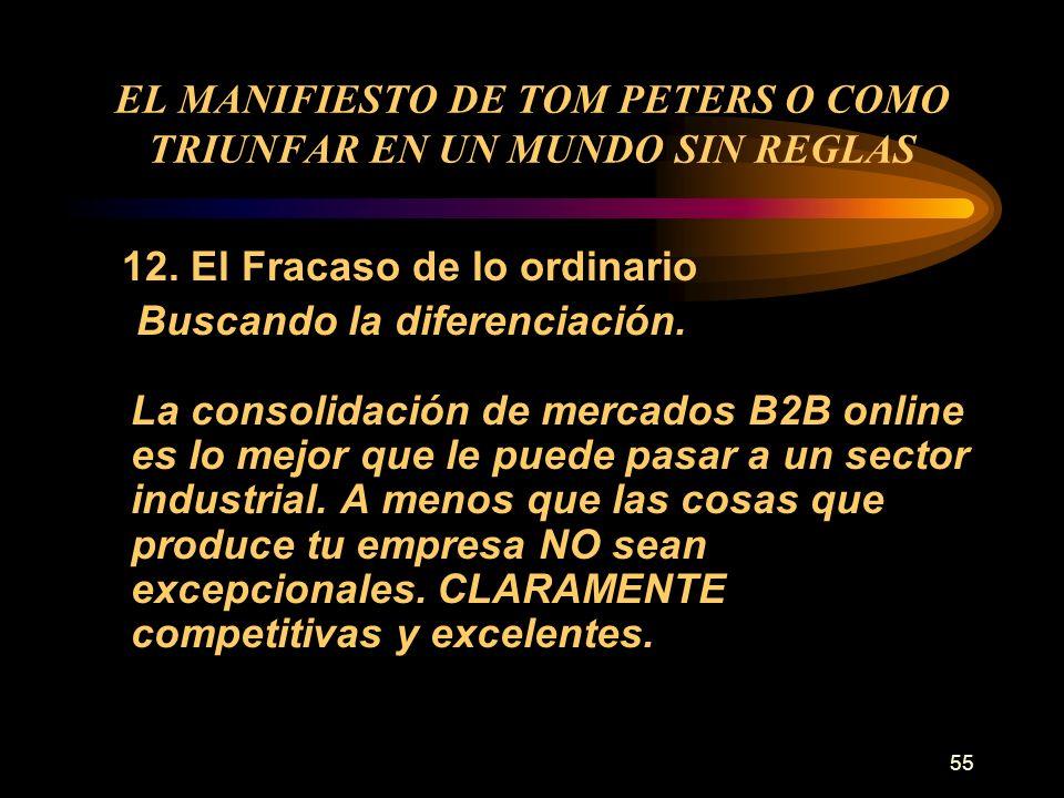EL MANIFIESTO DE TOM PETERS O COMO TRIUNFAR EN UN MUNDO SIN REGLAS