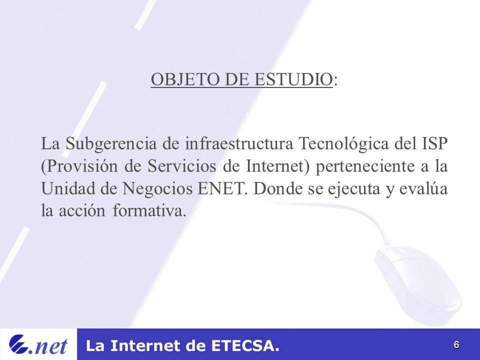 OBJETO DE ESTUDIO: