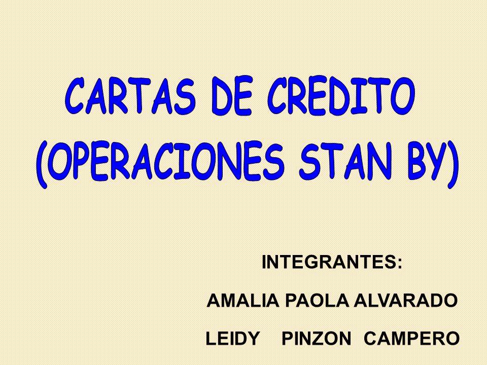 CARTAS DE CREDITO (OPERACIONES STAN BY)