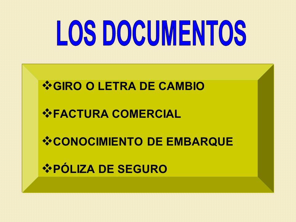 LOS DOCUMENTOS GIRO O LETRA DE CAMBIO FACTURA COMERCIAL