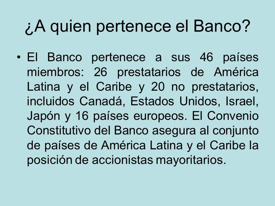 ¿A quien pertenece el Banco