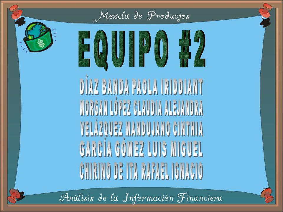 EQUIPO #2 DÍAZ BANDA PAOLA IRIDDIANT MORGAN LÓPEZ CLAUDIA ALEJANDRA