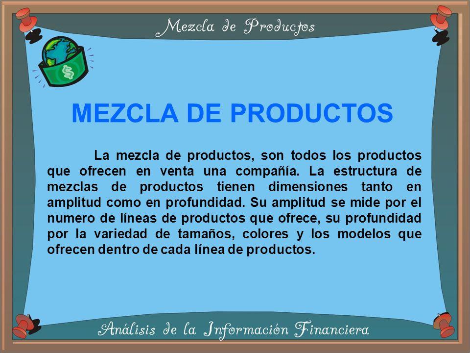MEZCLA DE PRODUCTOS