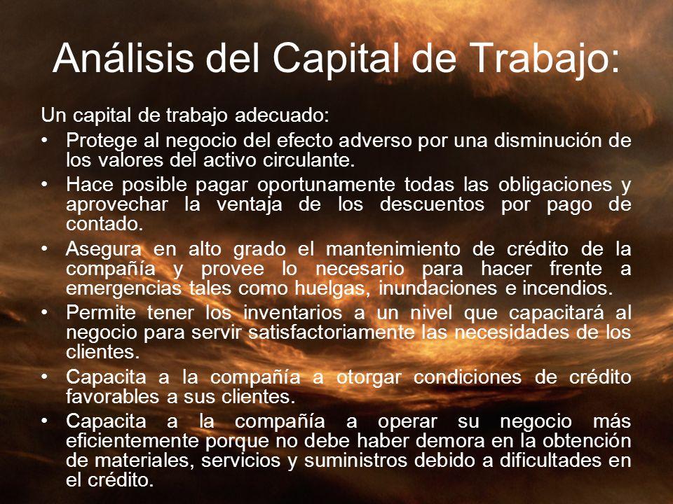 Análisis del Capital de Trabajo: