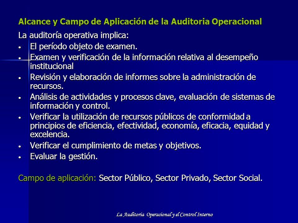 Alcance y Campo de Aplicación de la Auditoria Operacional