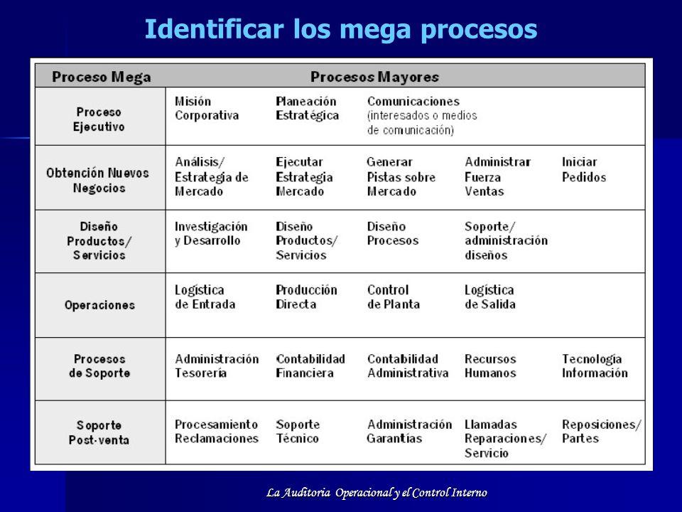 Identificar los mega procesos