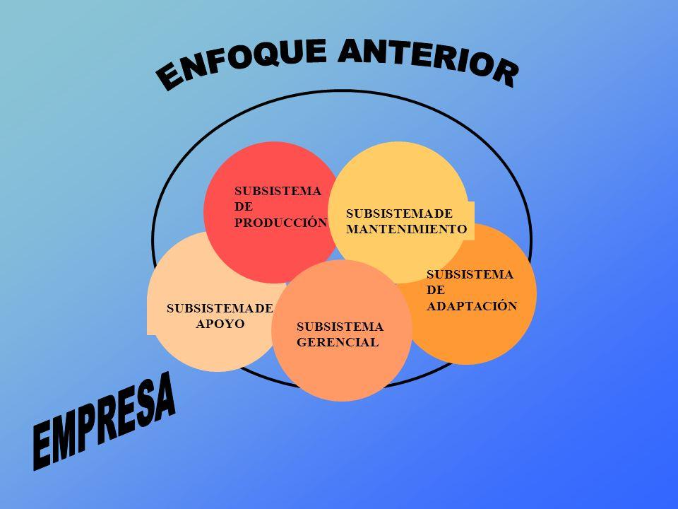 ENFOQUE ANTERIOR EMPRESA SUBSISTEMA DE PRODUCCIÓN