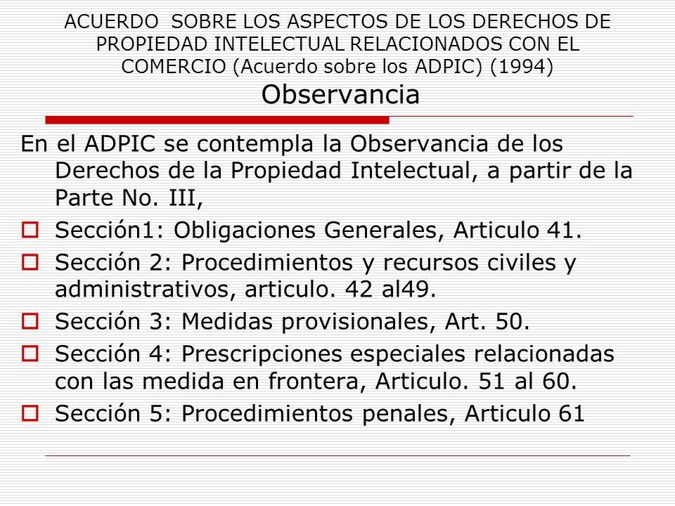 Sección1: Obligaciones Generales, Articulo 41.