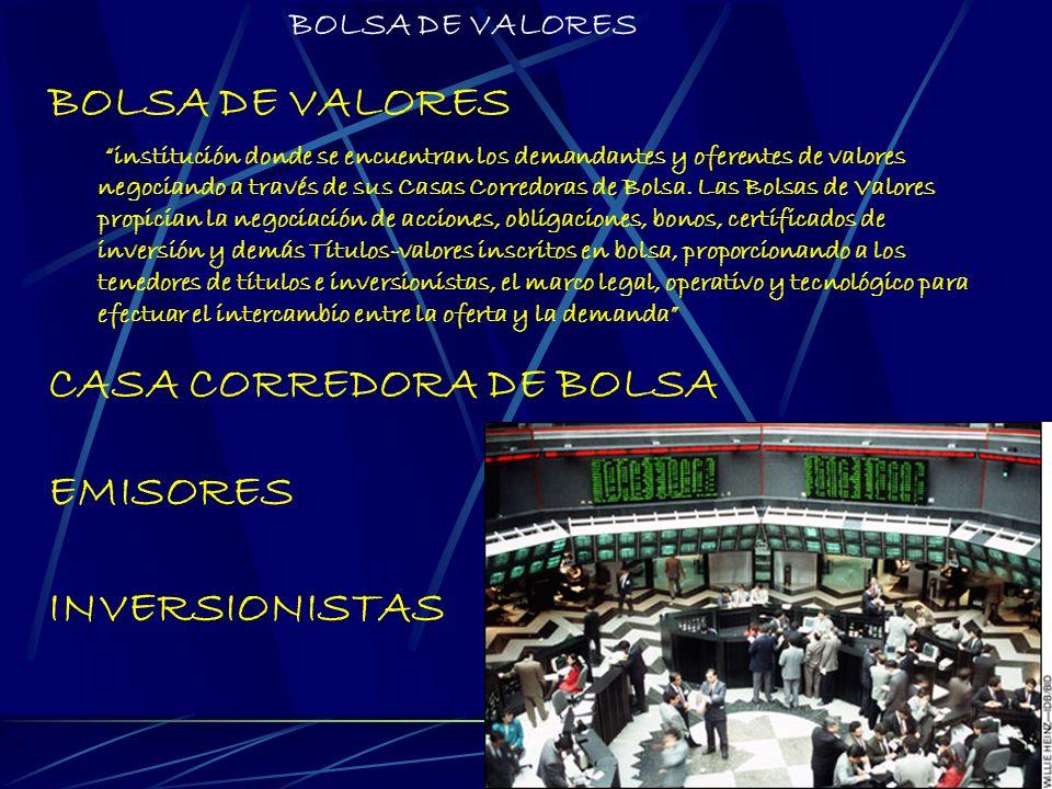CASA CORREDORA DE BOLSA