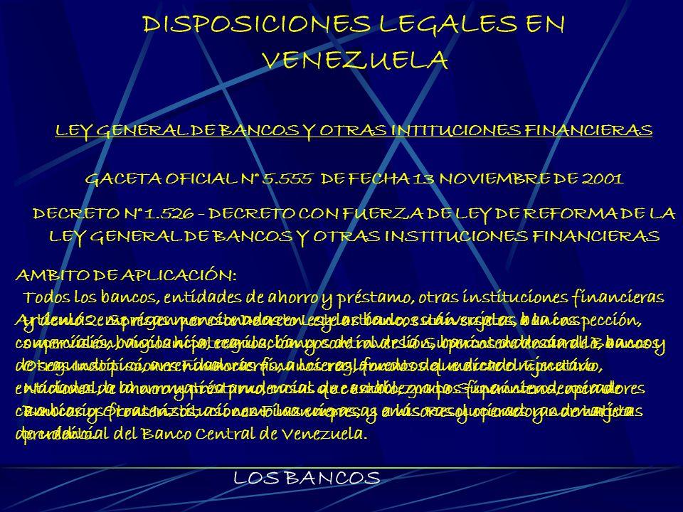 DISPOSICIONES LEGALES EN VENEZUELA