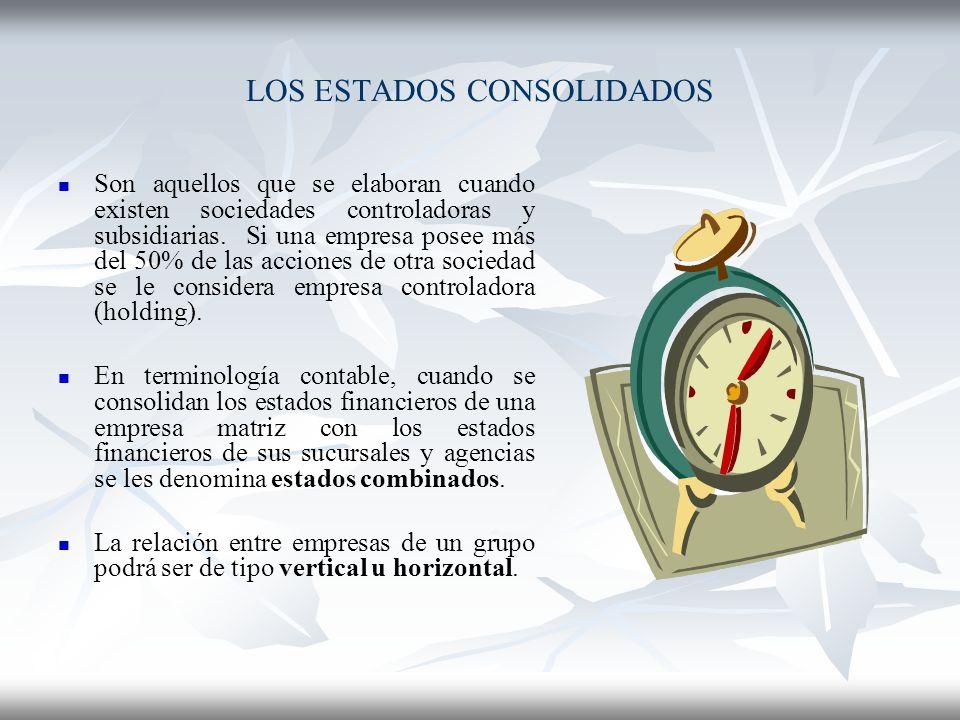 LOS ESTADOS CONSOLIDADOS
