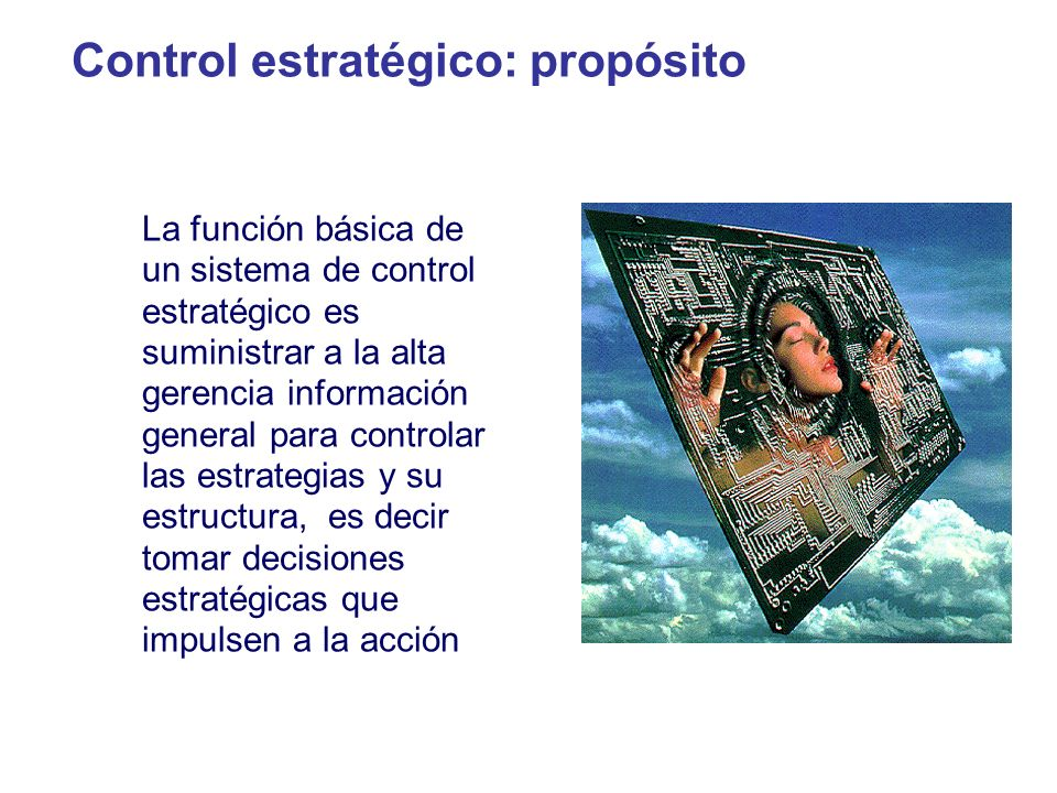 Control estratégico: propósito