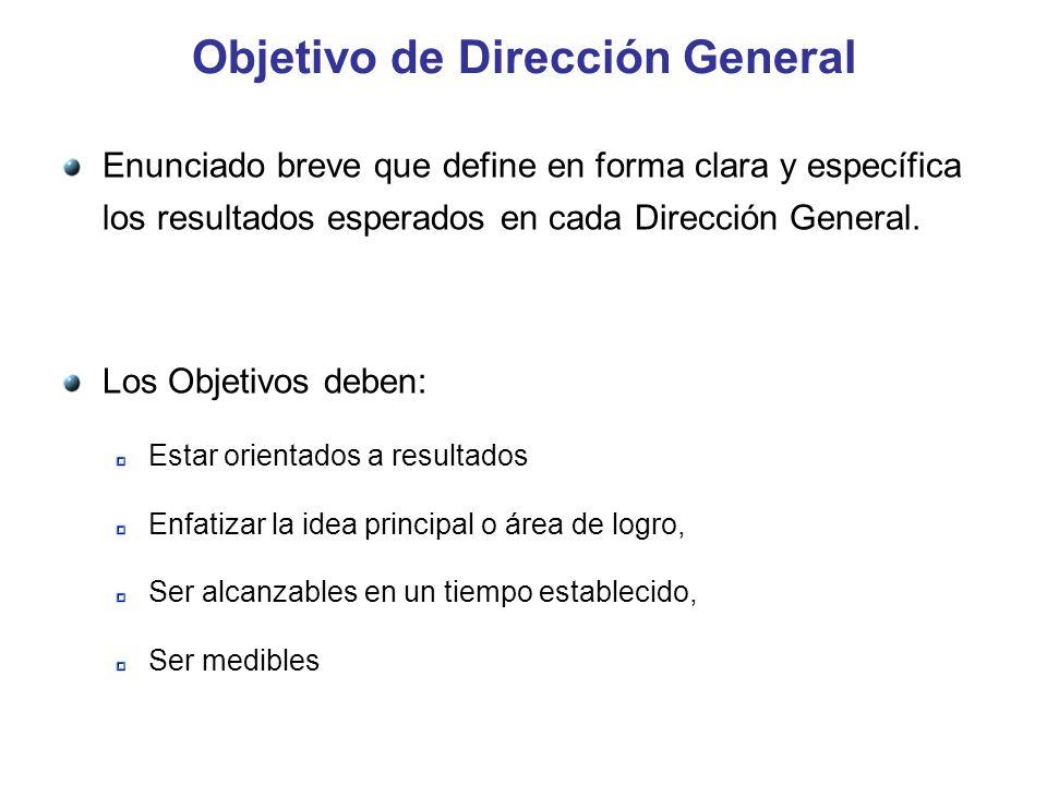 Objetivo de Dirección General