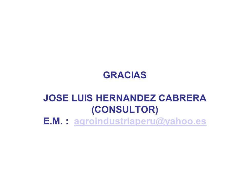 GRACIAS JOSE LUIS HERNANDEZ CABRERA (CONSULTOR) E. M
