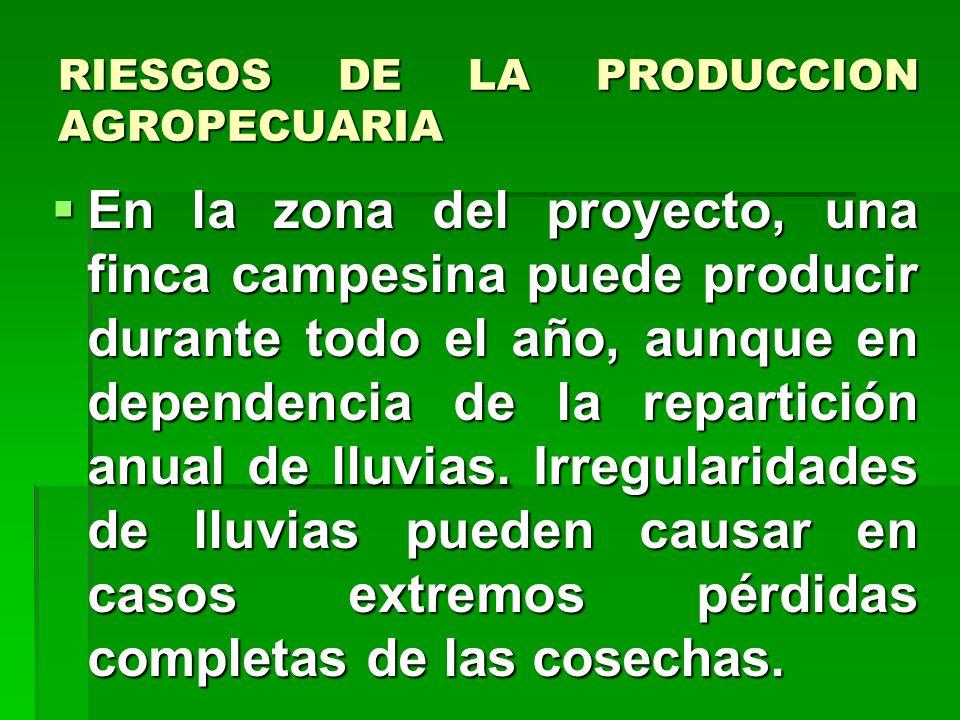 RIESGOS DE LA PRODUCCION AGROPECUARIA