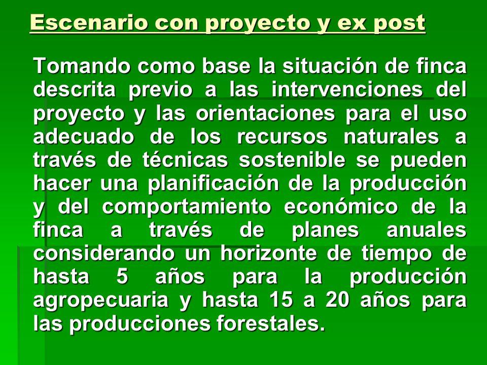Escenario con proyecto y ex post