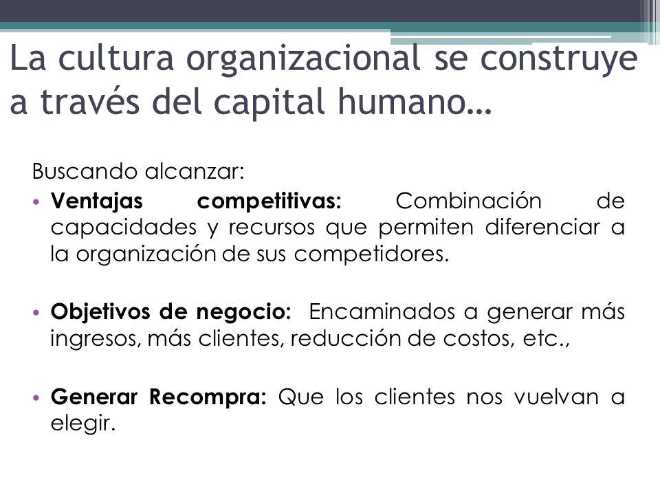 La cultura organizacional se construye a través del capital humano…