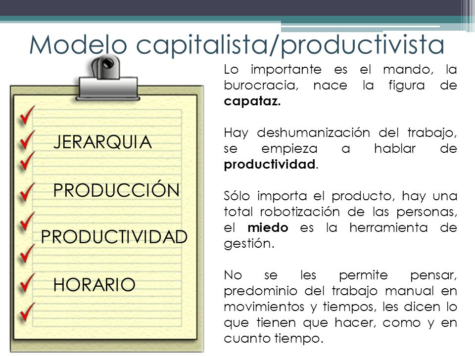 Modelo capitalista/productivista