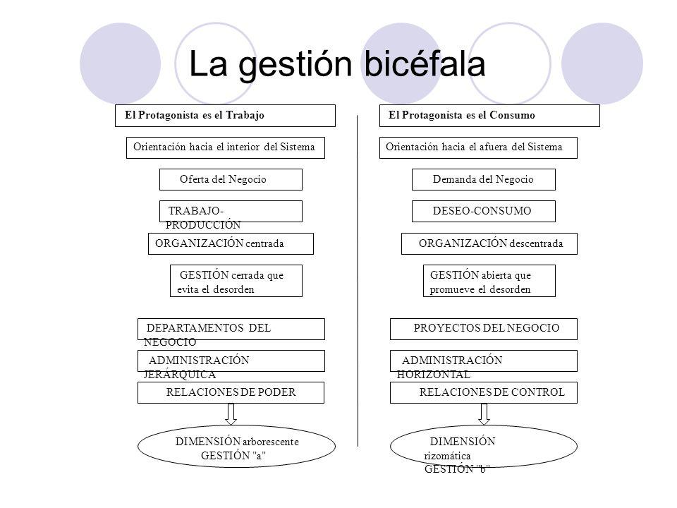 La gestión bicéfala Orientación hacia el interior del Sistema