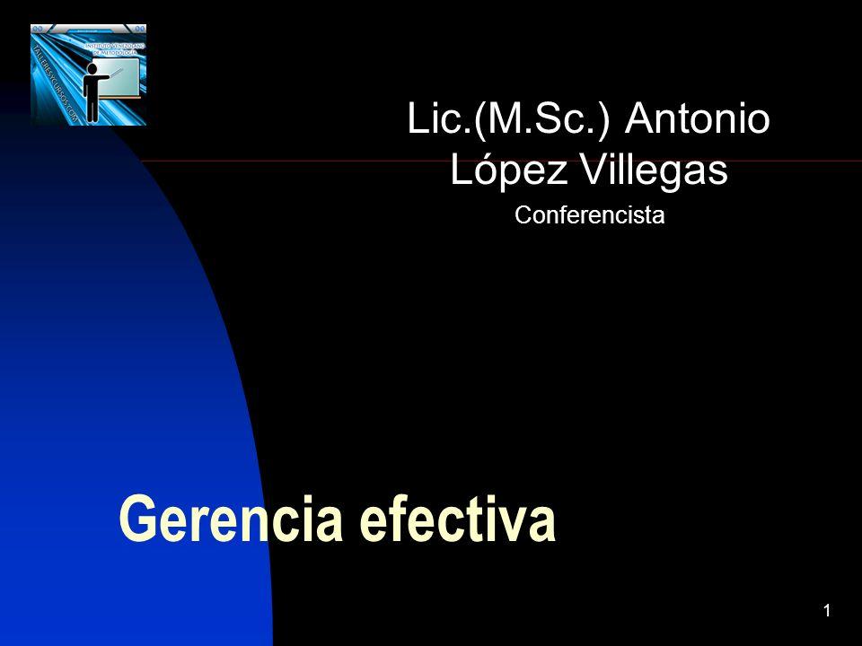 Lic.(M.Sc.) Antonio López Villegas Conferencista