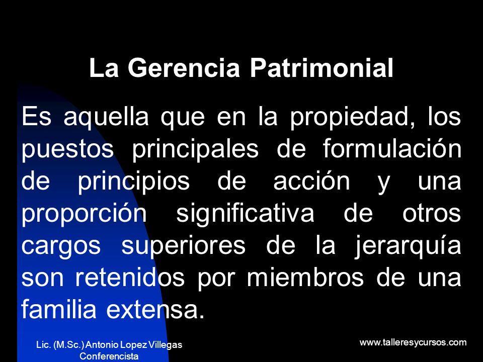 La Gerencia Patrimonial