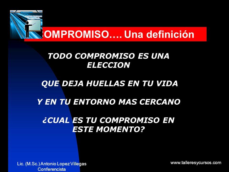 COMPROMISO…. Una definición