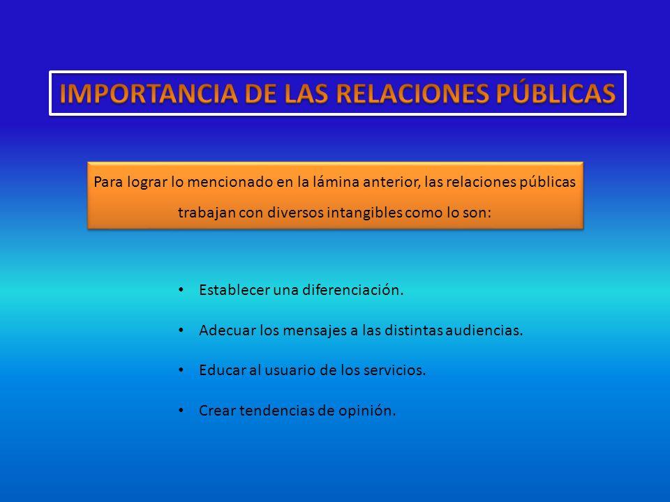 IMPORTANCIA DE LAS RELACIONES PÚBLICAS