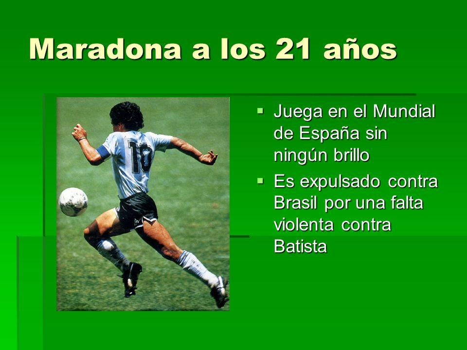 Maradona a los 21 años Juega en el Mundial de España sin ningún brillo