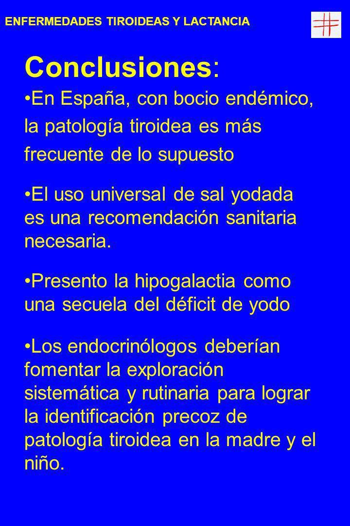 ENFERMEDADES TIROIDEAS Y LACTANCIA