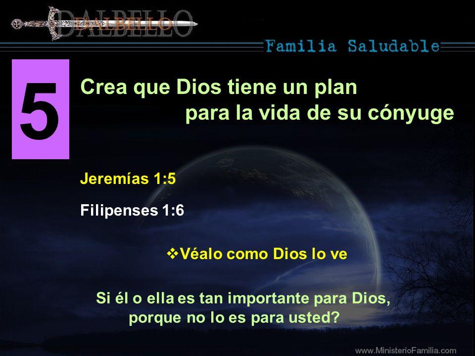 Si él o ella es tan importante para Dios, porque no lo es para usted