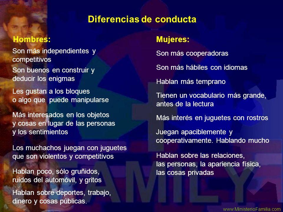 Diferencias de conducta