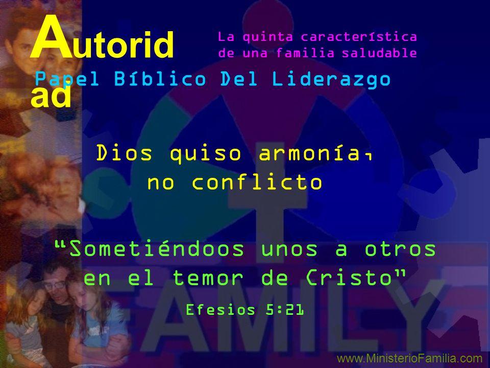 Autoridad Dios quiso armonía, no conflicto