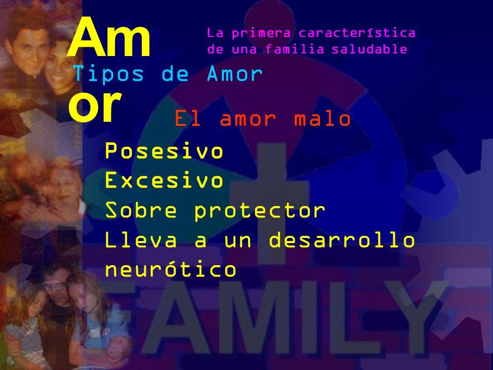 Amor Tipos de Amor El amor malo Posesivo Excesivo Sobre protector