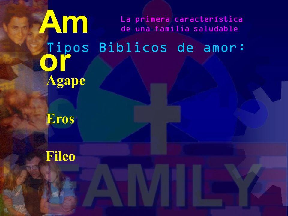 Amor Tipos Biblicos de amor: Agape Eros Fileo