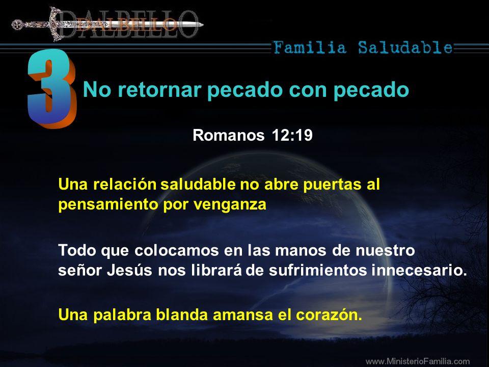 3 No retornar pecado con pecado Romanos 12:19