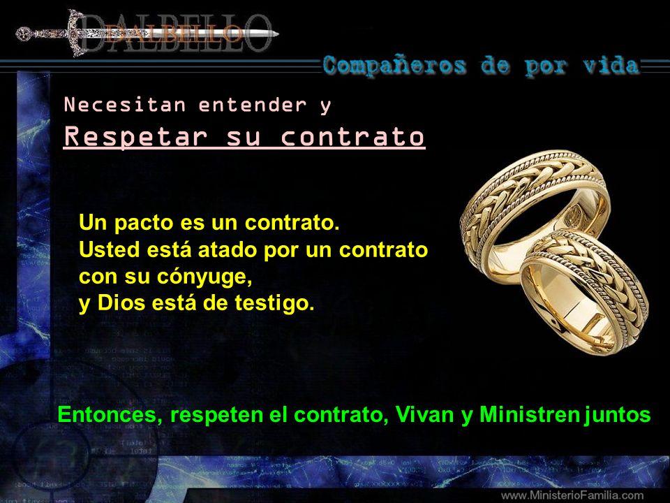 Respetar su contrato Necesitan entender y Un pacto es un contrato.