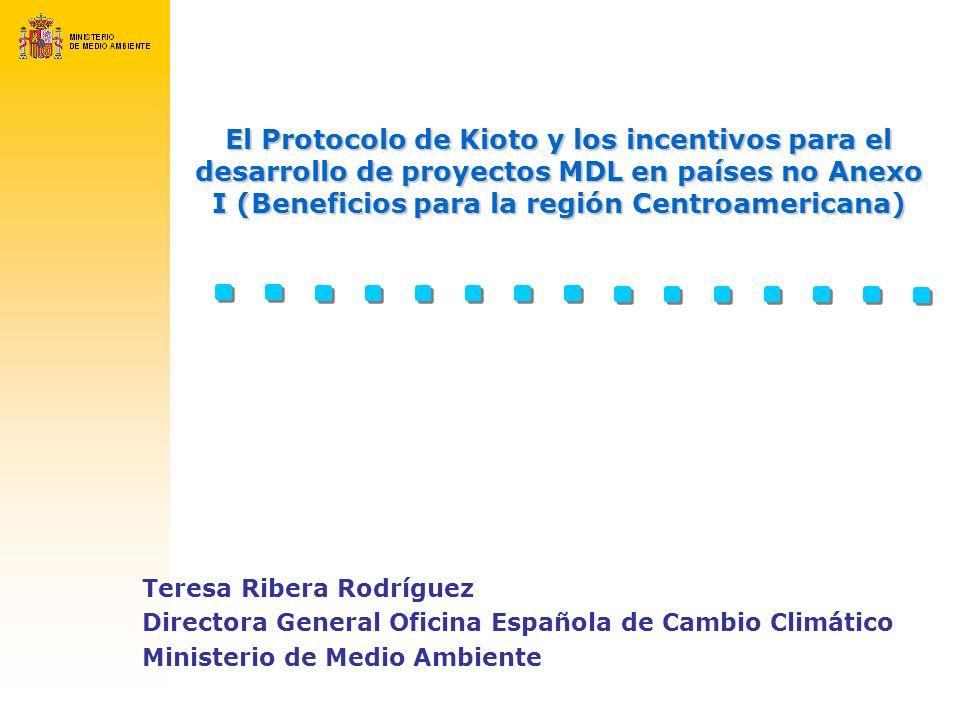 El Protocolo de Kioto y los incentivos para el desarrollo de proyectos MDL en países no Anexo I (Beneficios para la región Centroamericana)