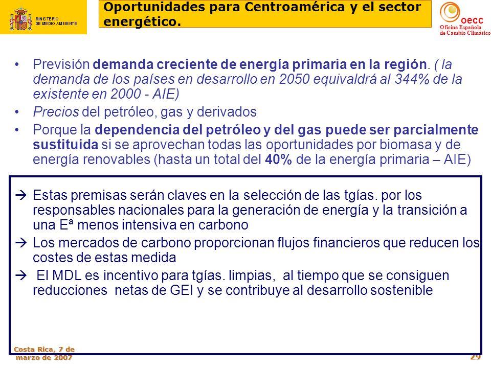 Oportunidades para Centroamérica y el sector energético.