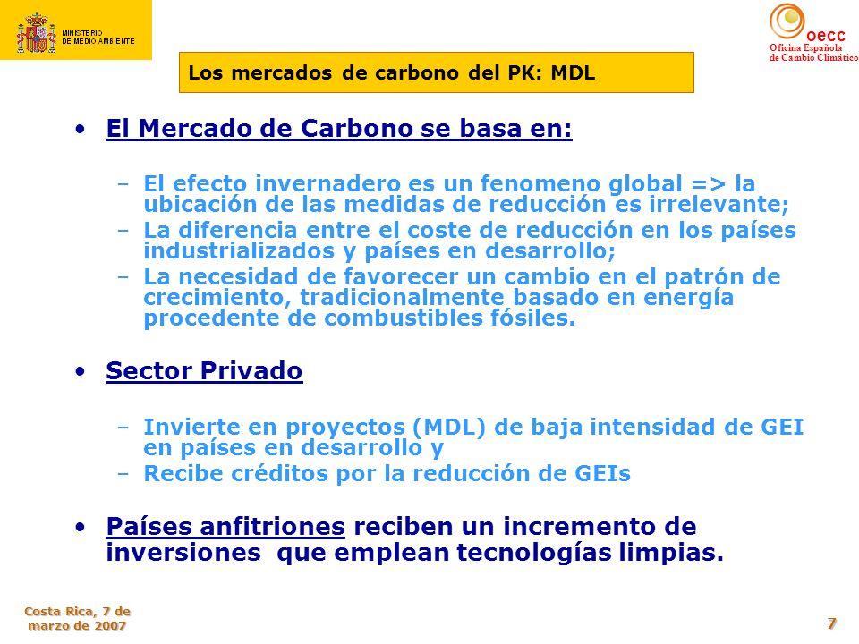El Mercado de Carbono se basa en: