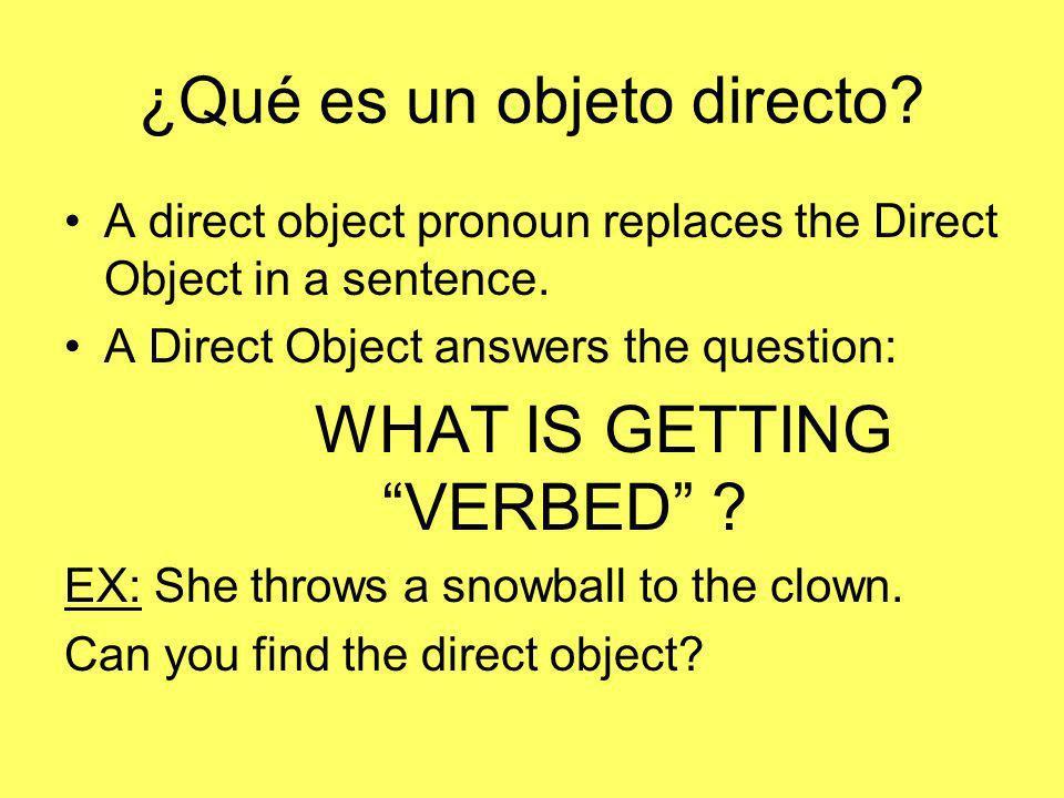 ¿Qué es un objeto directo